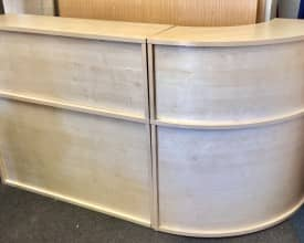 Used Reception Unit In Maple Finish