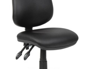 Twin Lever Operator Chairs In Black Vinyl