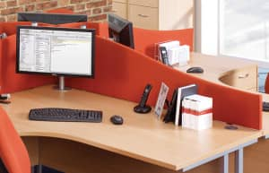 Desk Mounted Screen Product