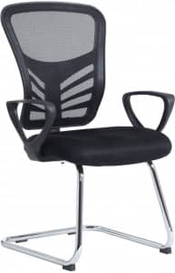 VANTAGE MESH BACK VISITORS CHAIR WITH ARMS – BLACK ONLY – LIMITED STOCK – £69+VAT