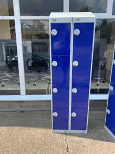 USED 8 DOOR LOCKERS IN BLUE WITH KEYS – £99 + VAT EACH
