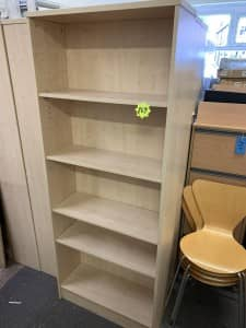 2m High Maple Heavy Duty Bookcases with 4 shelves – 5 available – £69 + VAT
