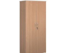 USED Beech Cupboards Lockable with 4 Shelves 1790mm H x 800mm W x 470mm D- £125 + VAT – 5 available