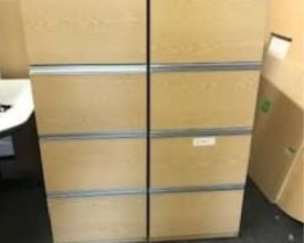 Light Oak Heavy Duty 4 Drawer foolscap filing cabinets – 5 matching available – £99 + VAT EACH